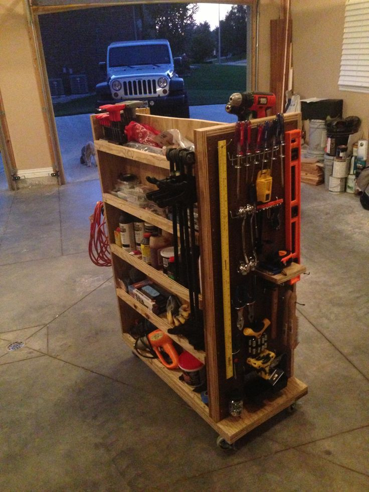Garage Tool Cart Just An Idea You Could Make It To Your Own Measurements