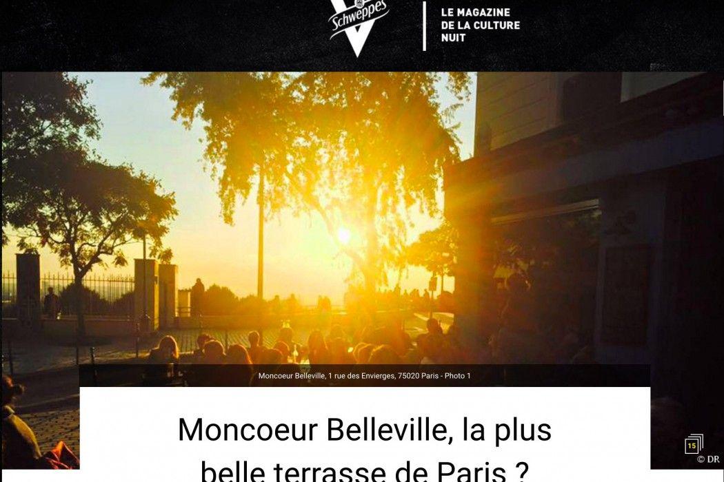 La plus belle terrasse de Paris est celle du restaurant Moncoeur Belleville