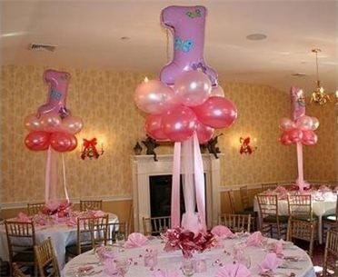 First Birthday Cloud Nine Balloon Centerpiece Thats clever