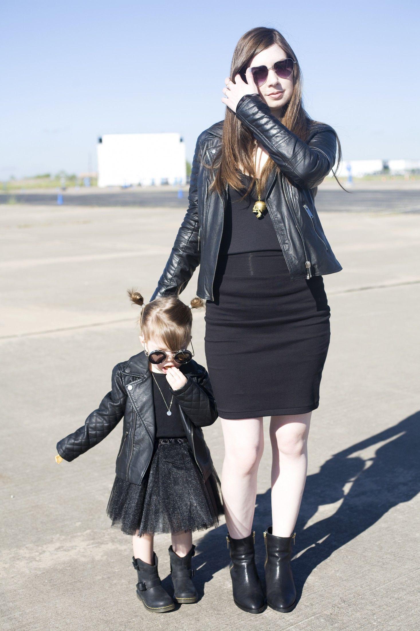 Mini Me Outfits Mom & Me Outfits Moto Jackets All Black