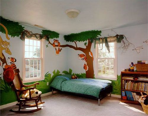 Kids Jungle Themed Bedroom Home Design Ideas Kids Interior