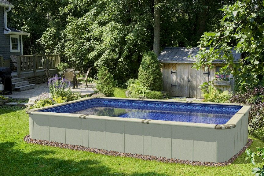Ez Panel Pool This Is Genius 9 X13 Option 52 Depth Perfect Size Comes In Kit Form And Hs Outdoor Pool Area Backyard Pool Above Ground Swimming Pools
