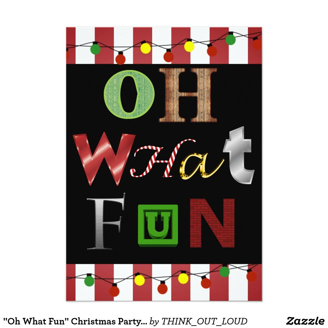 Have a fun christmas party by sending out these cute invitations oh what fun christmas party invitation reheart Image collections