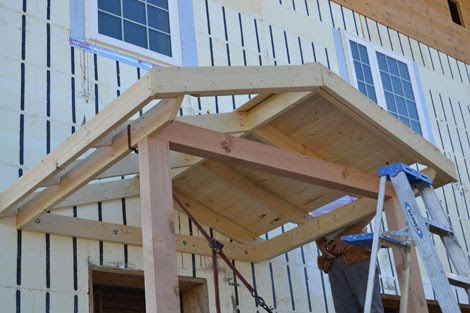 Gable Roof Over Entry Door Porch Design House With Porch Gable