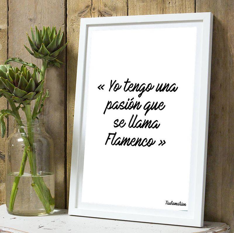 Affiche Citation Flamenco A4 Sans Cadre Décorations Murales Par