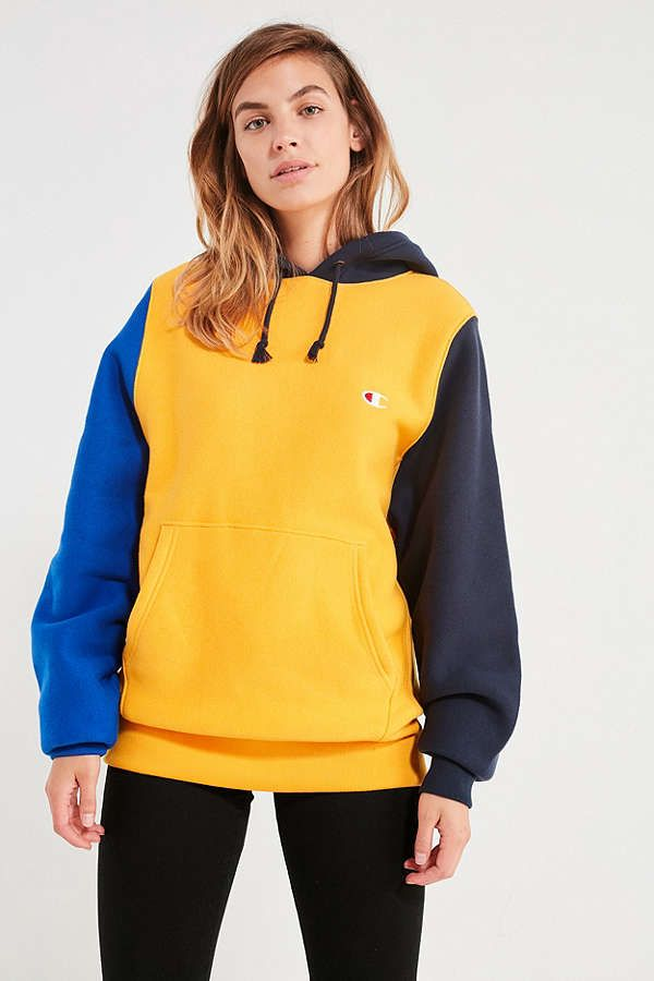 huge discount 42230 bf872 Champion Colorblock Hoodie Sweatshirt   Urban Outfitters