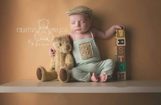 Shelf used as prop Lay on background for safety  rueboo  Newborn Photography Newborn baby