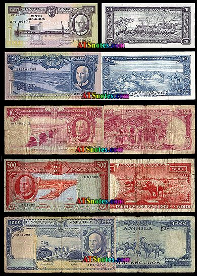 Angola Currency Banknotes Paper Money