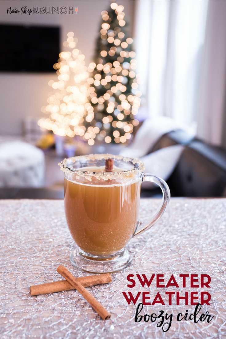 Sweater Weather Cider Boozy Holiday Drinks Christmas Party
