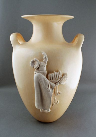 """Untitled"" Clay Vessel by Al Qoyawayma 