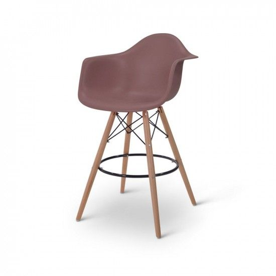 Tabouret De Bar Eames DAW Marron