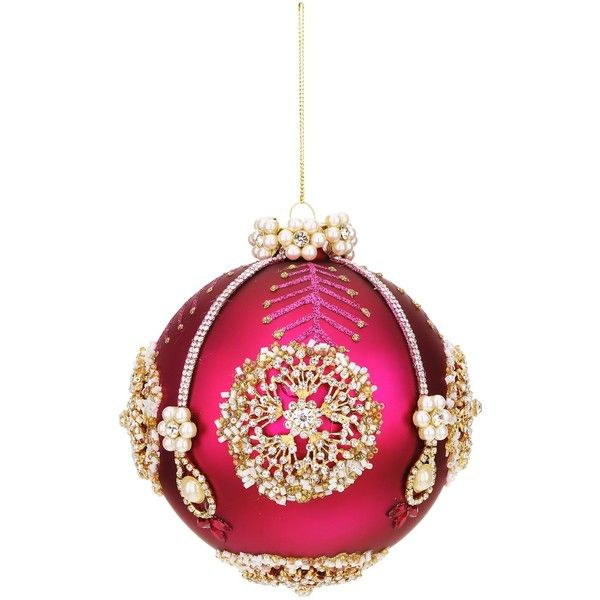 """Mark Roberts Pearl 5"""""""" Ornament (700500 BYR) ❤ liked on Polyvore featuring home, home decor, holiday decorations, no color, mark roberts and mark roberts ornaments"""