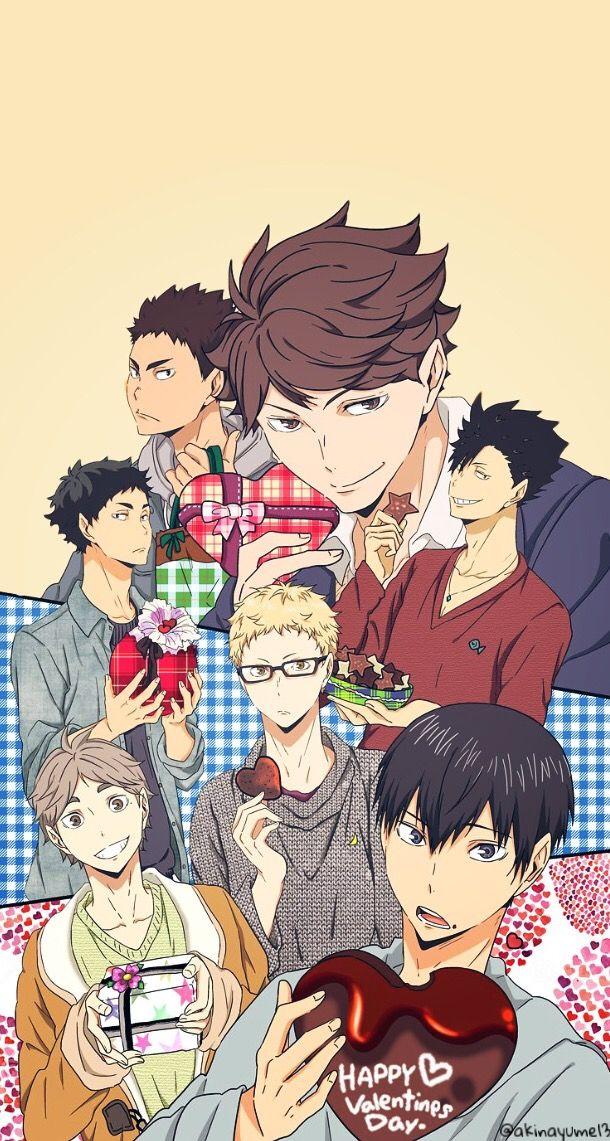 Haikyuu Volleyball Valentinesday Valentine Anime Animeboy Animewallpaper Iphonewallpaper Wallpaper Haikyuu Anime Haikyuu Wallpaper Haikyuu Characters