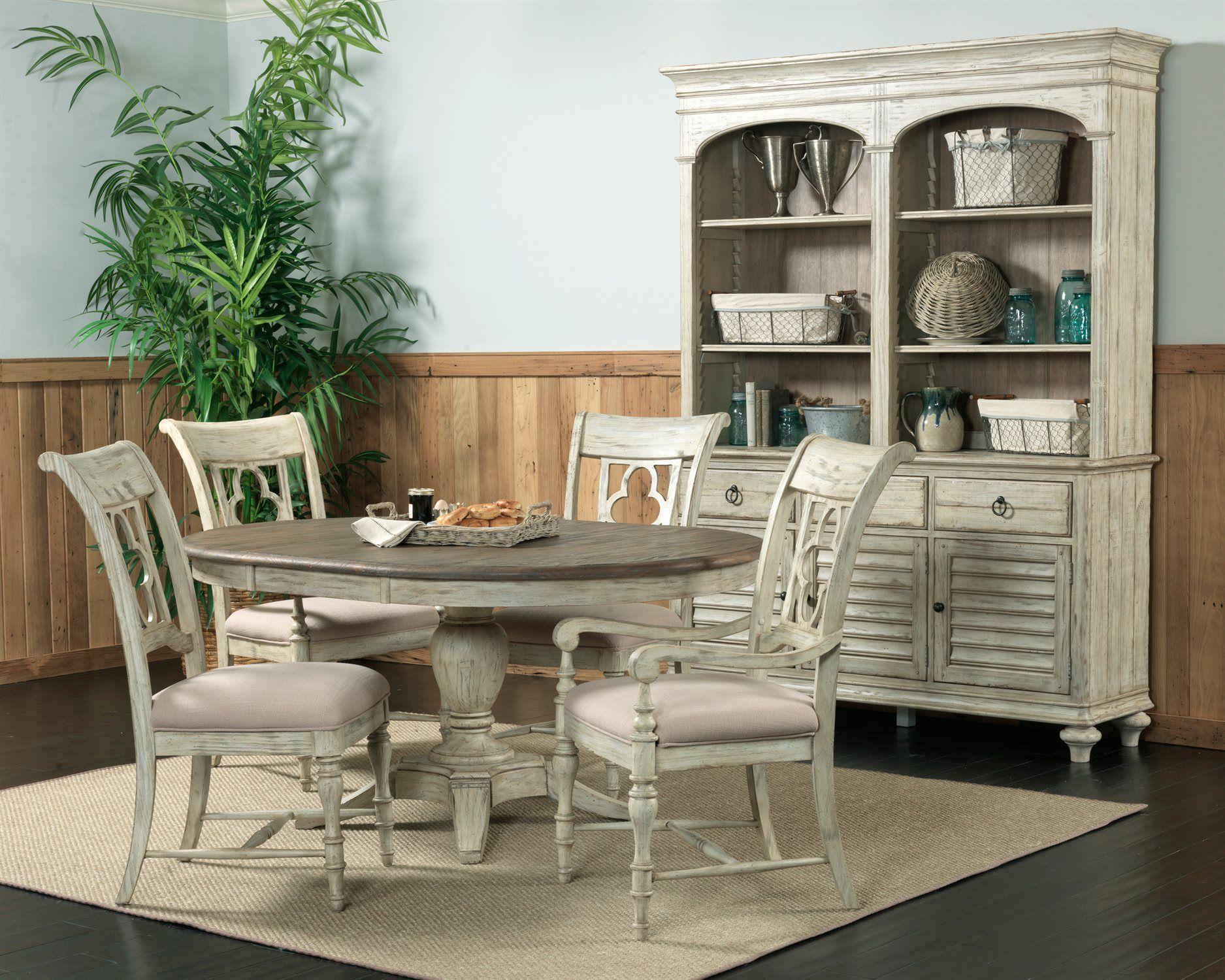 Kincaid Weatherford Cornsilk Dining Set Ki75052tset2 Round Dining Table Sets Dining Table Round Dining Table