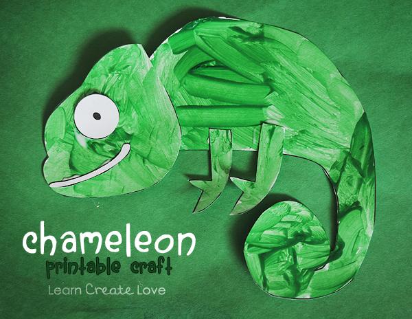 printable chameleon craft from httplearncreatelovecom