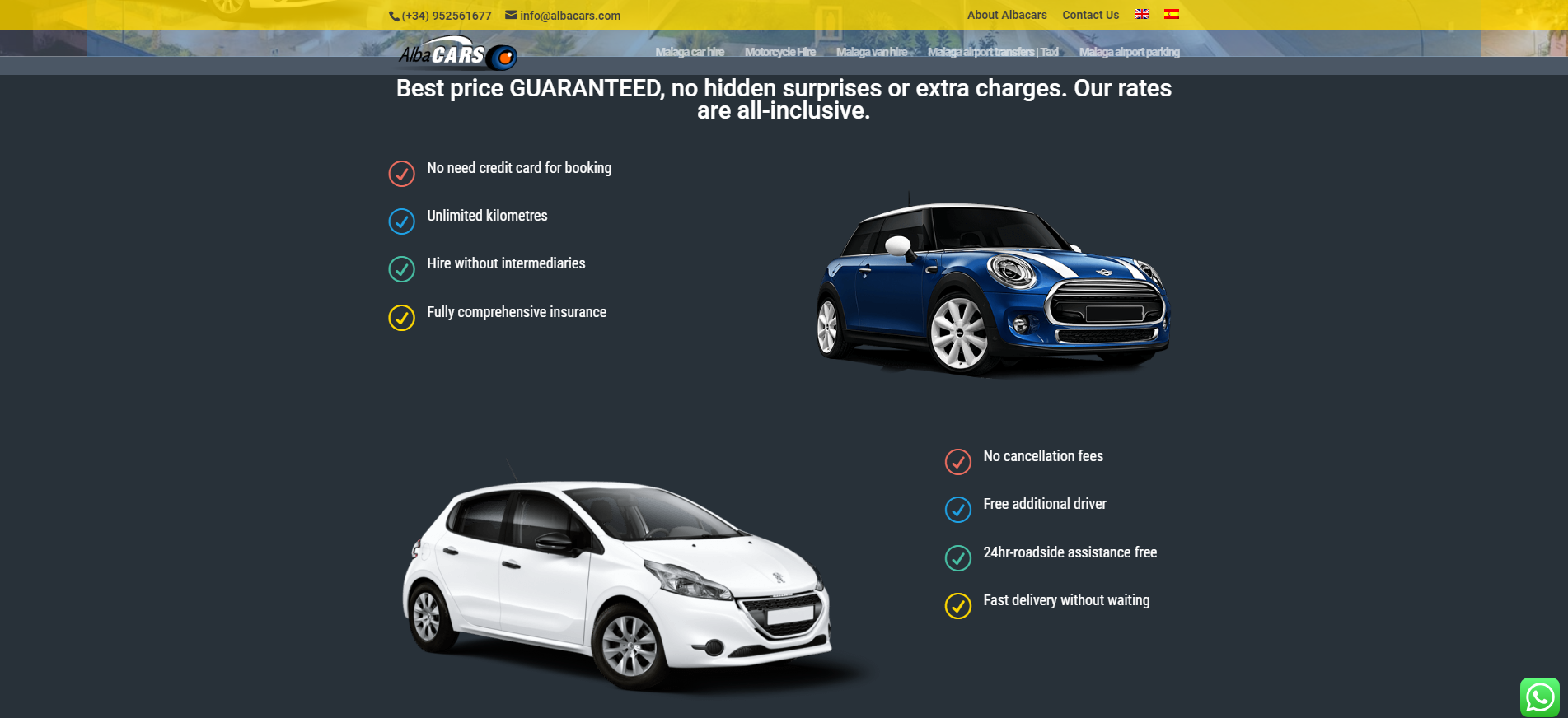 Rent your car in malaga airport with our company albacars