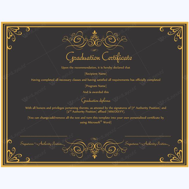Graduation Templates Certificate Collegecertificate