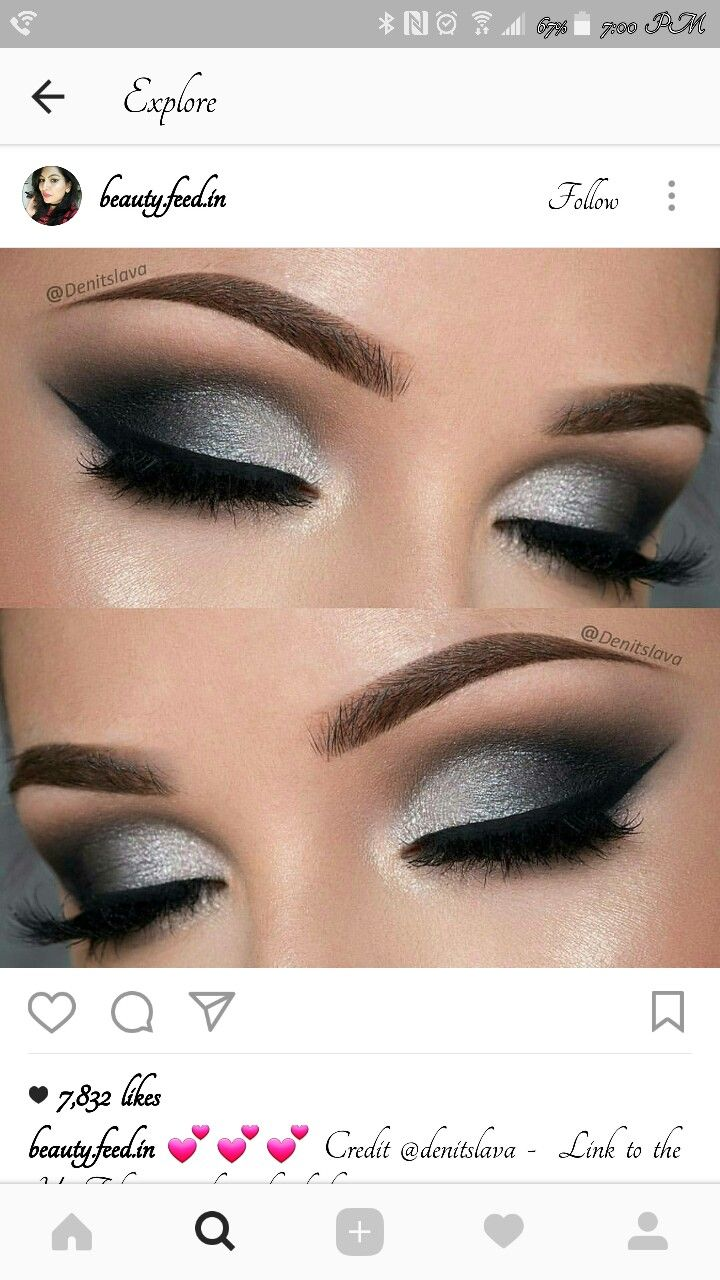 Pin By Qiana Sills On Make Up Nails With Images Silver Eye