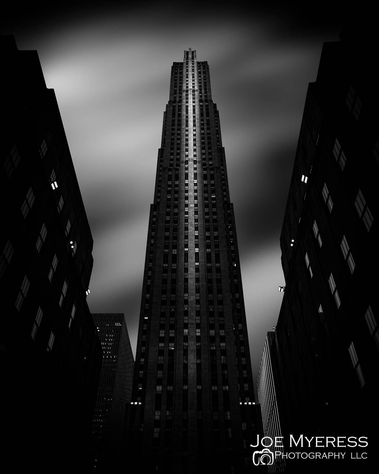 BW Fine Art of 30 Rock- Rockefeller