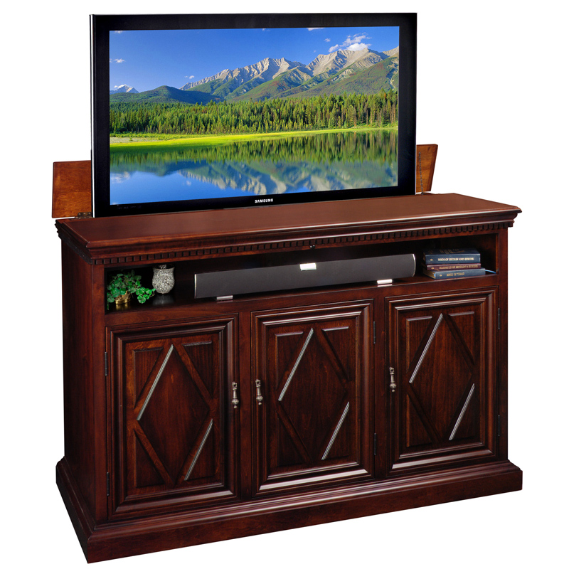 Estancia 62 Quot Hidden Flat Panel Tv Pop Up Lift Cabinet In