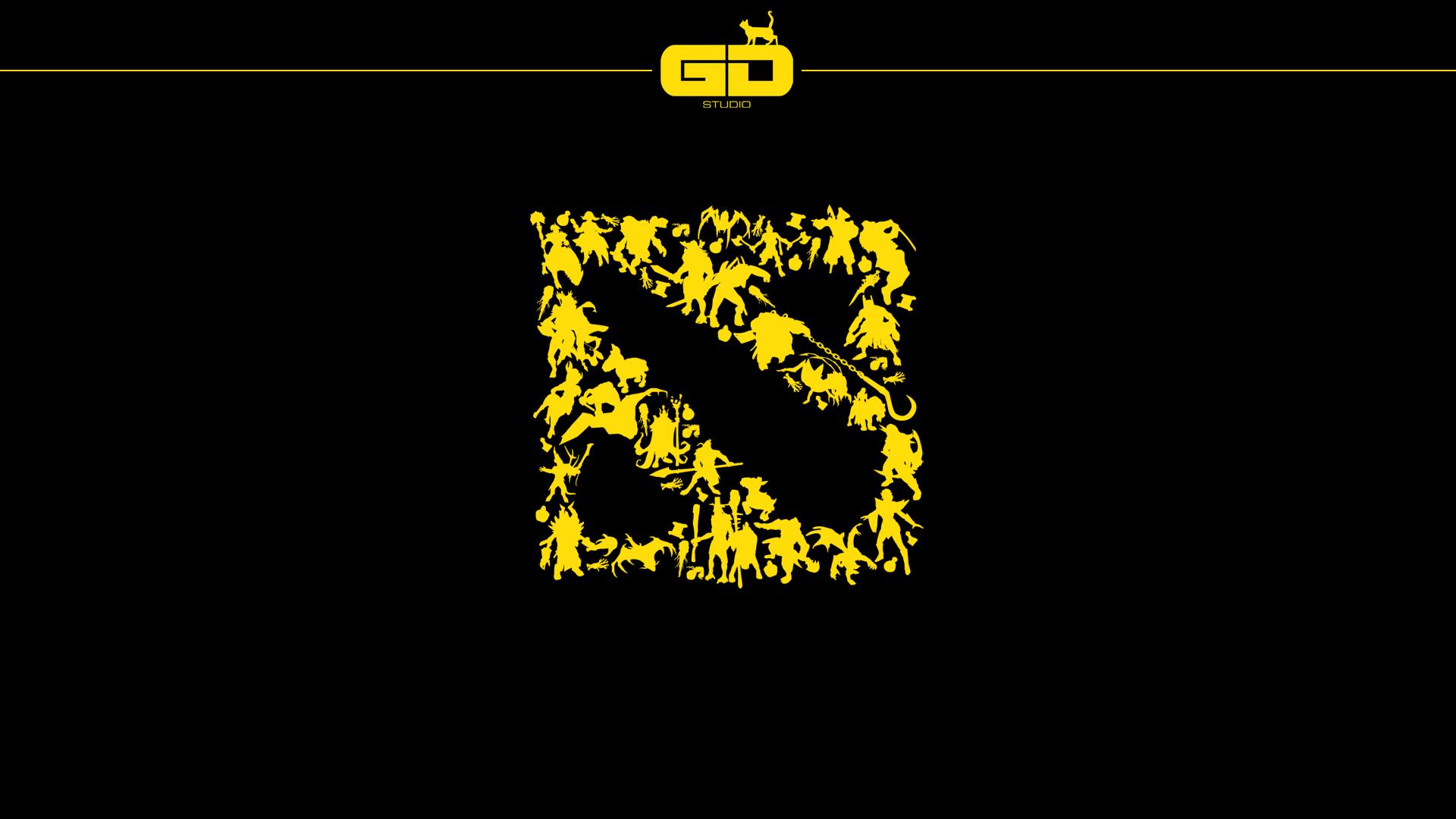 Dota 2 Silhouette Logo Wallpaper Digital Wallpaper Dota 2 Dota 2 Logo