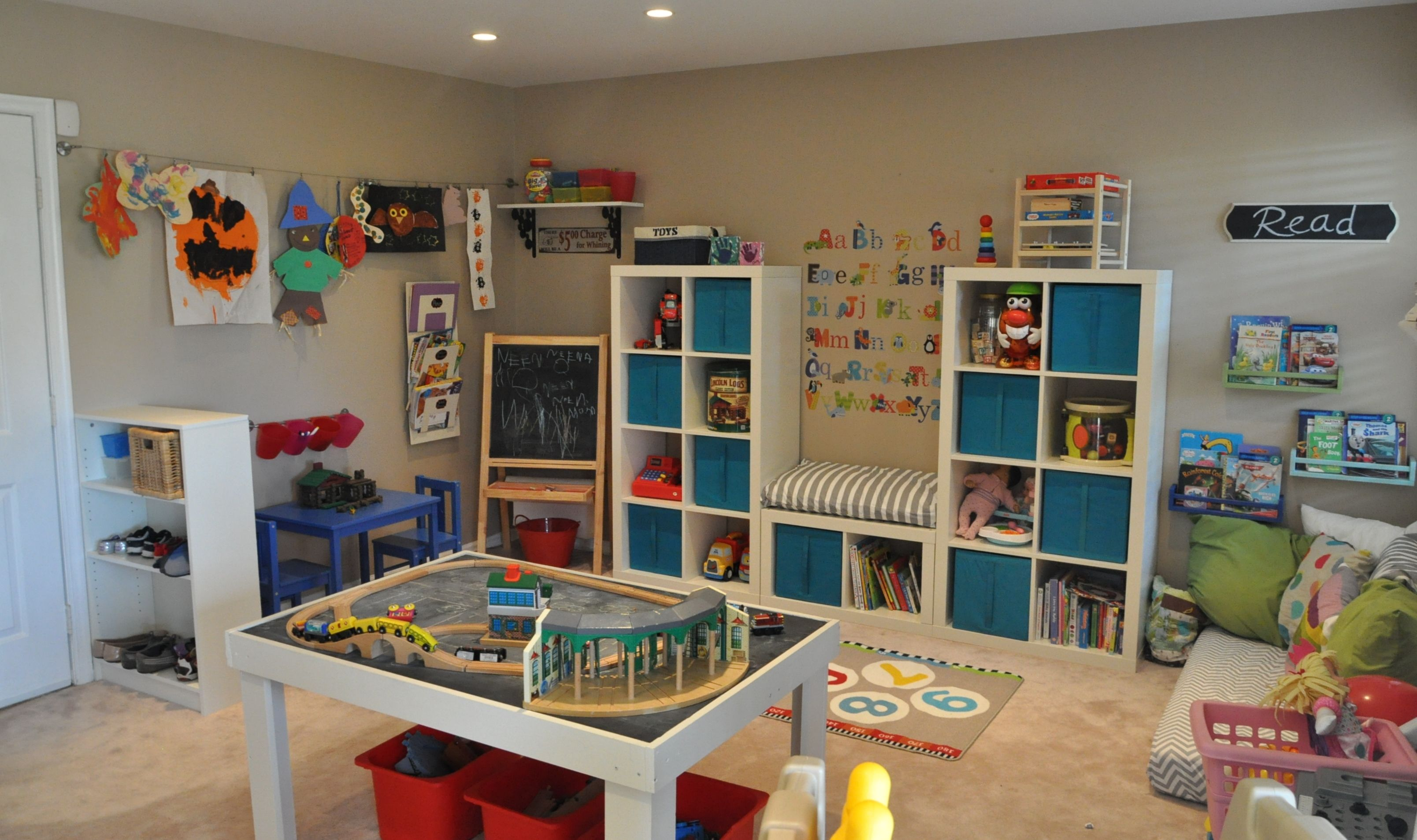 Pin By Gemma Puzas On Playroom Ideas Small Playroom Playroom Design Playroom Storage
