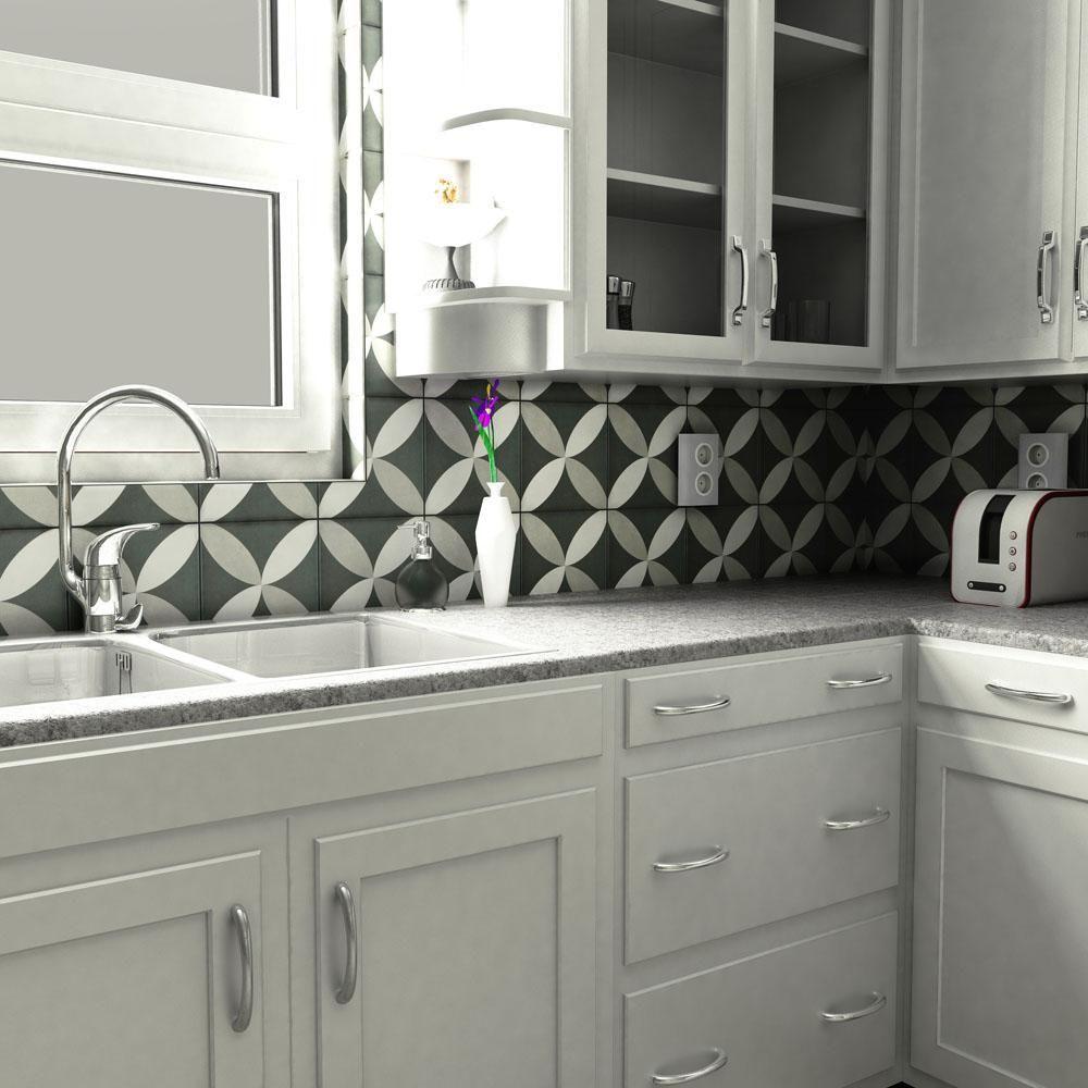 Merola Tile Twenties Petal Encaustic 7 3 4 In X 7 3 4 In Ceramic Floor And Wall Tile Frc8twep Carreaux Ciment Carreau Cuisine