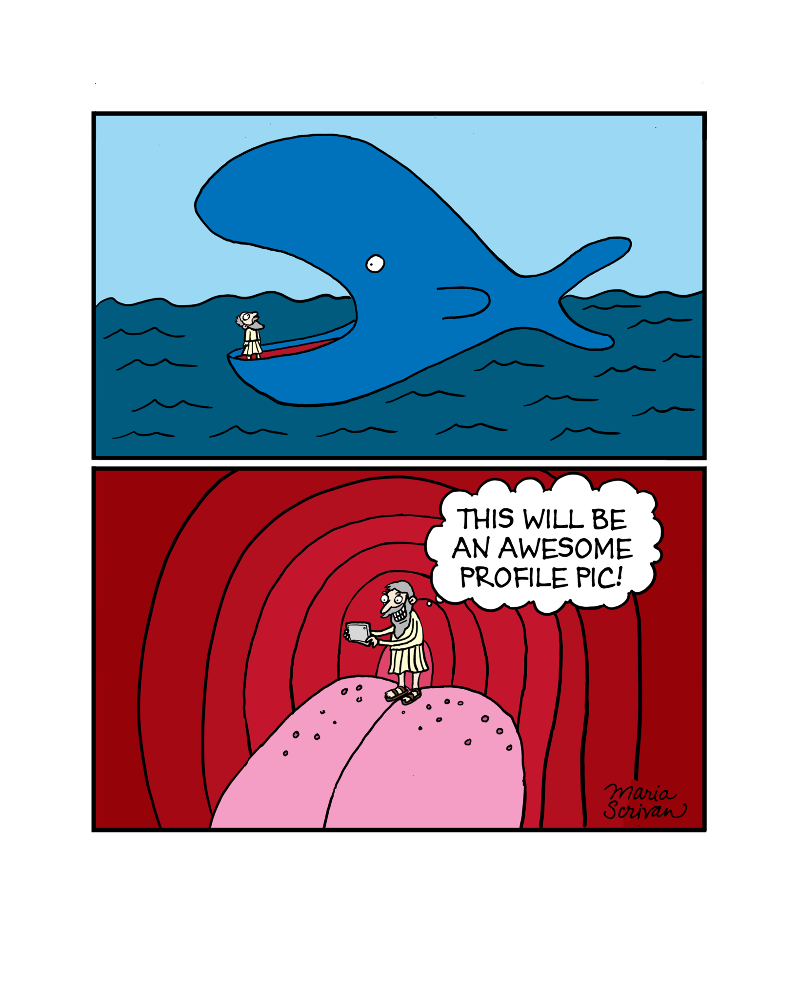 Jonah and the Whale Print | Pinterest