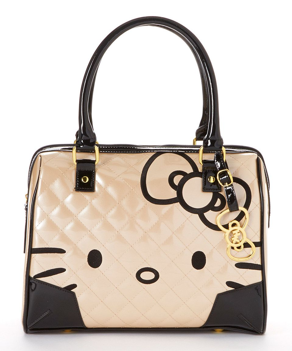fb8df8559a49 This Pink Champagne Quilted Patent Hello Kitty Shoulder Bag by Hello Kitty  is perfect!  zulilyfinds