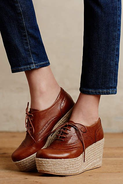 7cfa1f17367 Sapatos De Plataforma · KMB Lenzie Platform Oxfords - anthropologie.com  Shoes Calçados