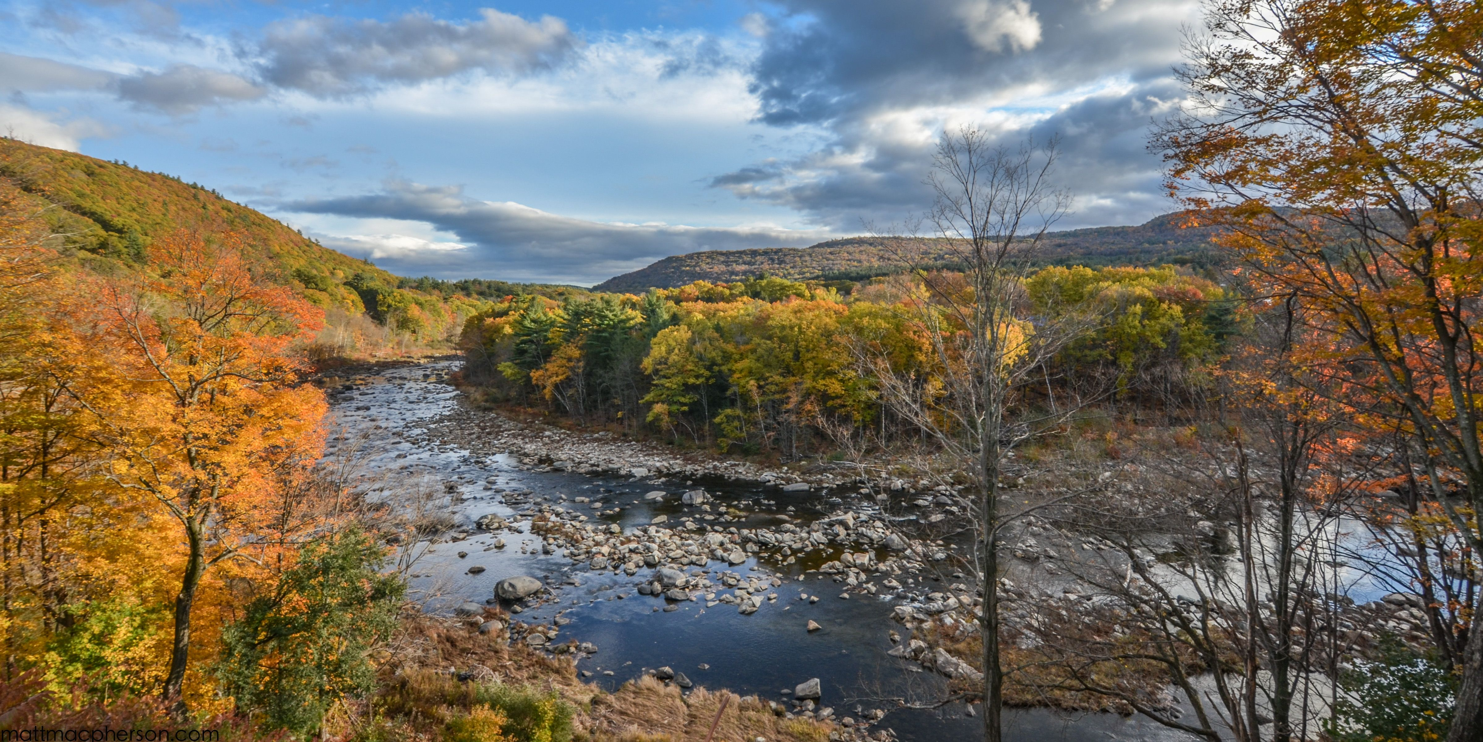 The Deerfield River In Massachusetts Oc 4800x2400 Landscape
