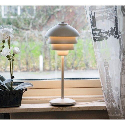 Belid Tischlampe in weiß Valencia Halogen 41,1 cm Hergestellt in Schweden von Belid - hier im #KONTOR1710