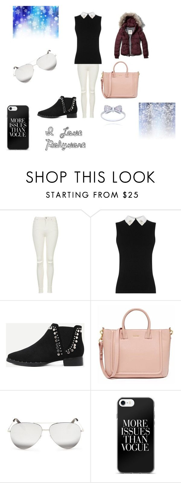 """fashion wear"" by miacarruthers on Polyvore featuring Topshop, WithChic, Victoria Beckham and Abercrombie & Fitch"