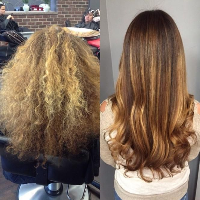 How to frizzy and brassy hair transformed with balayage for Olaplex salon