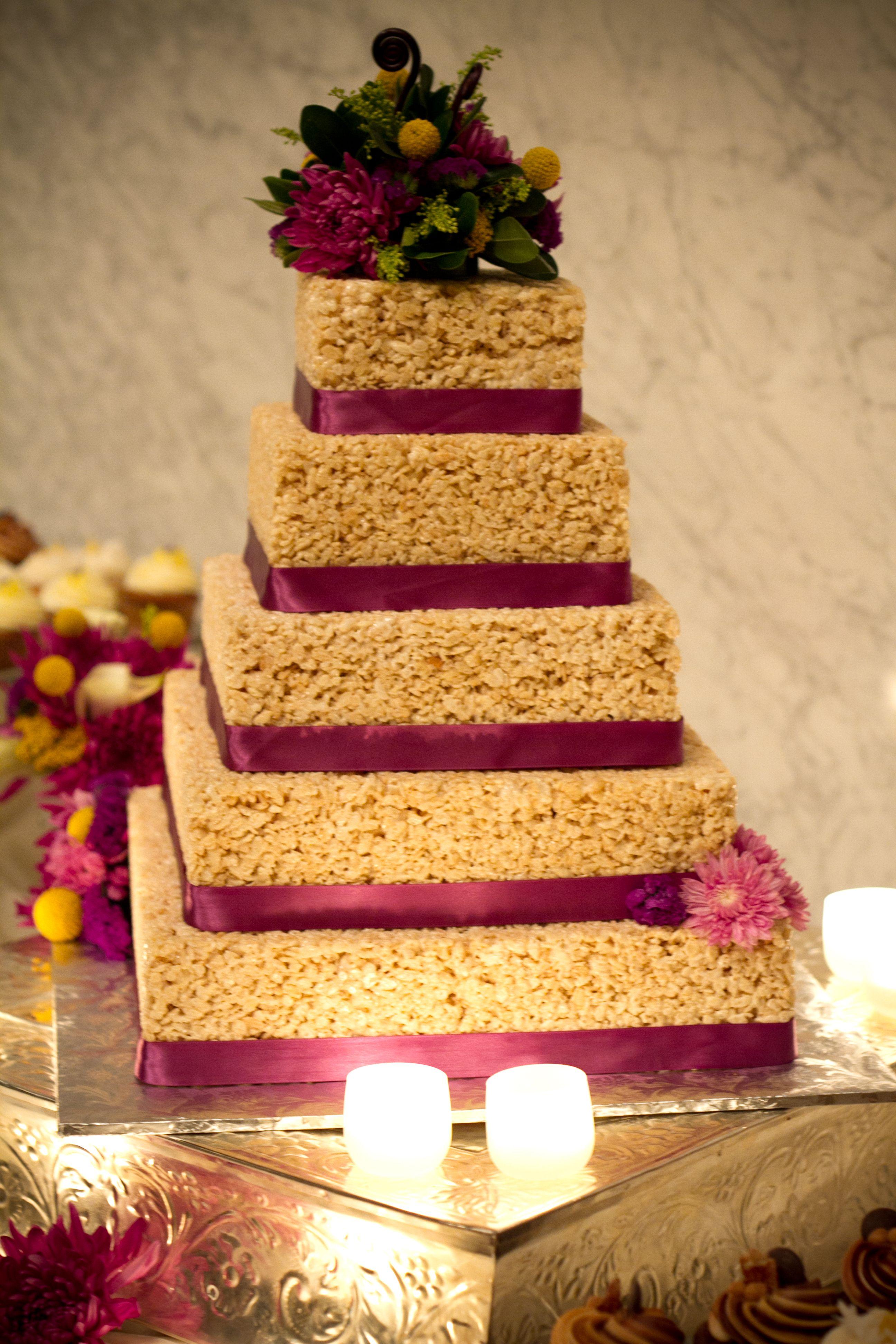 An original idea a rice krispy treat wedding cake rice