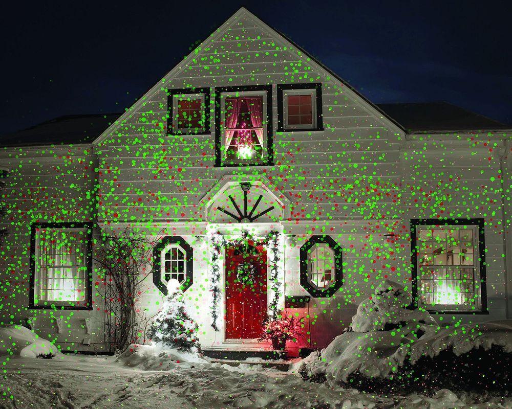 Outdoor Laser Star Shower Projector Christmas Night House Light ...