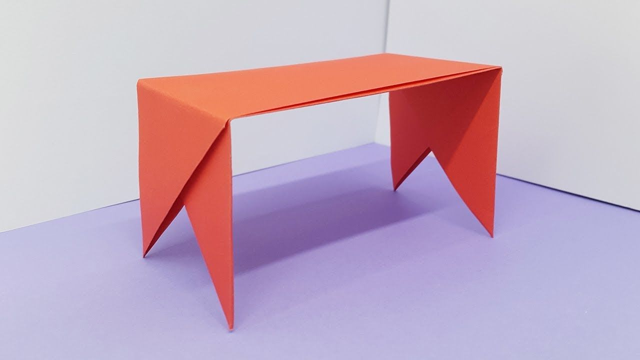 Merveilleux How To Make Paper Table   Origami Table Easy Making Tutorial Origami  Tutorial, Origami Instructions