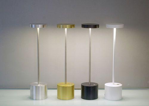 Lampada da tavolo design senza fili ricaricabile alluminio