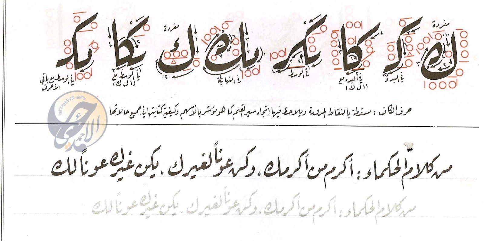 كراسة خط الرقعة للخطاط ناصر عبد الوهاب النصاري Islamic Art Calligraphy Arabic Calligraphy Islamic Art