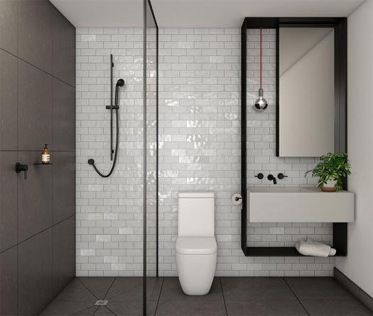 Black Shower Screen Channel From Collins Queen Development Bathroom Design Small Modern Modern Small Bathrooms Small Bathroom Makeover