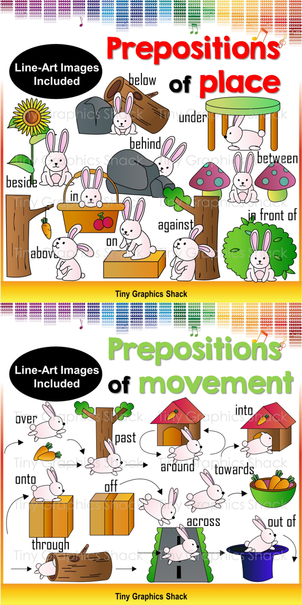 Prepositions Of Movement And Place Above Below Against Behind In Front Between On Next To Under Across Around Into