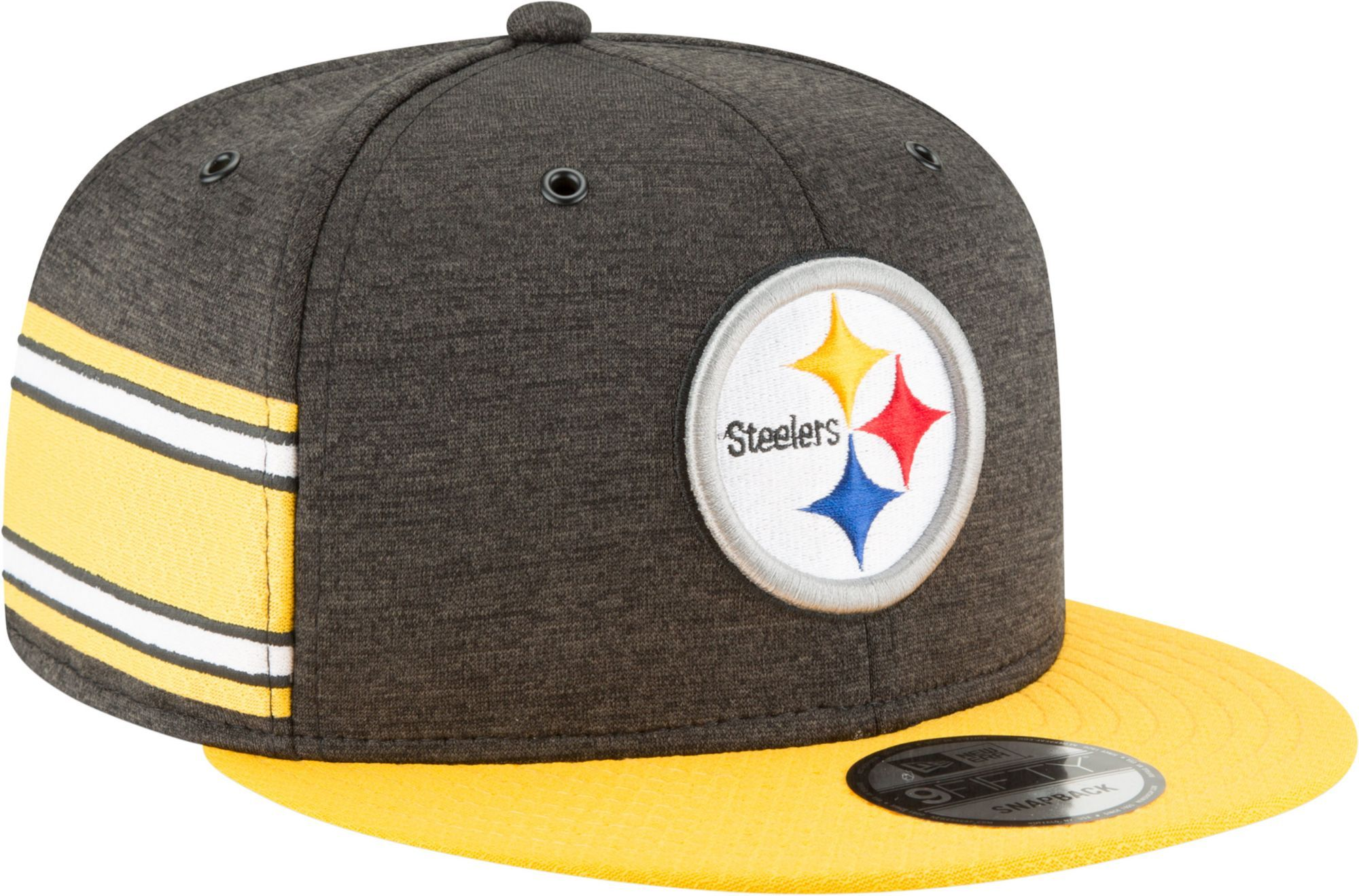 26a834c7 New Era Men's Pittsburgh Sideline Home 9Fifty Black Adjustable Hat ...