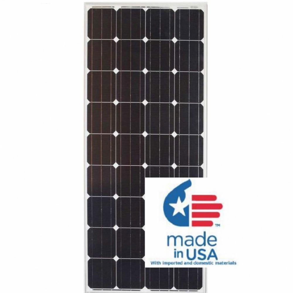 Grape Solar 180 Watt Monocrystalline Pv Solar Panel For Cabins Rv S And Back Up Power Systems Gs Star 180w Us In 2020 Solar Pv Panel Solar Energy Panels Solar Panels