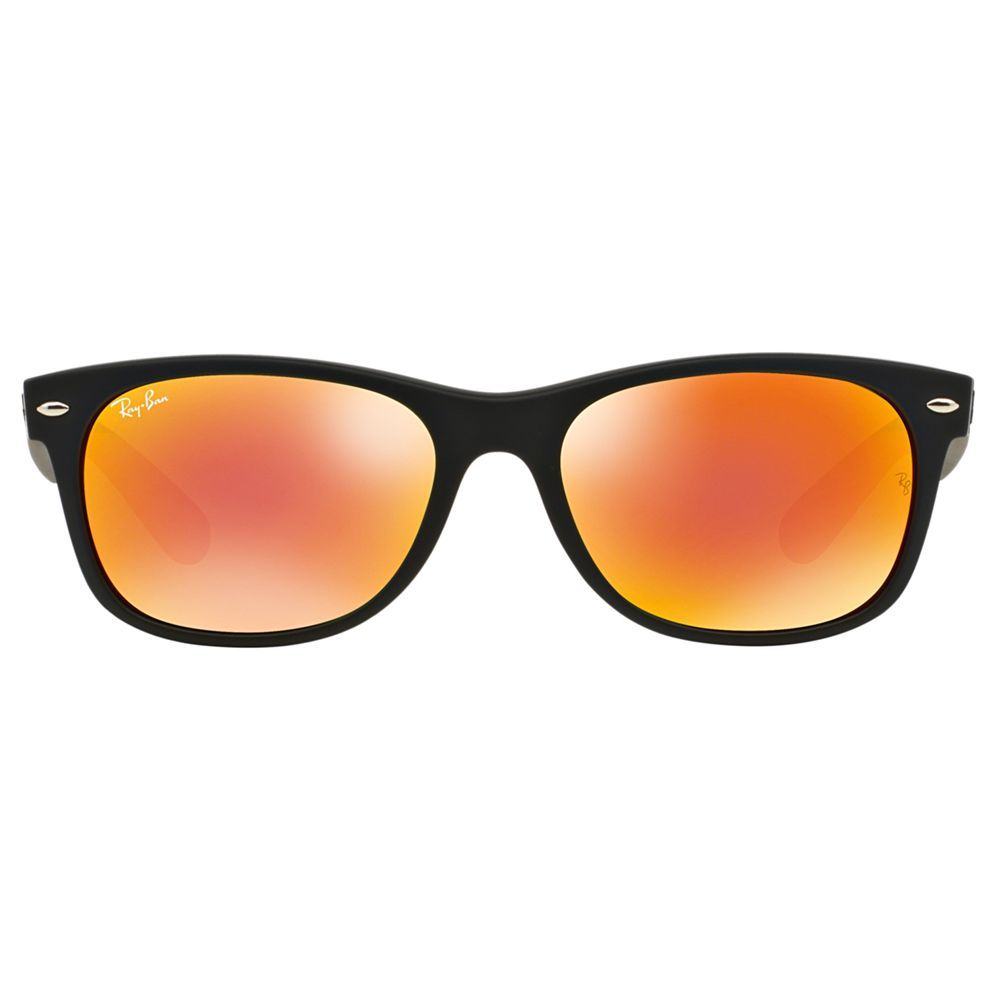 Ray Ban Rb2132 New Wayfarer Sunglasses Black Orange Mirror Wayfarer Sunglasses Sunglasses New Wayfarer