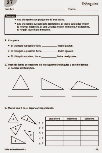 MIS COSAS DE MAESTRA*: Triángulos: clasificación según sus lados y ...