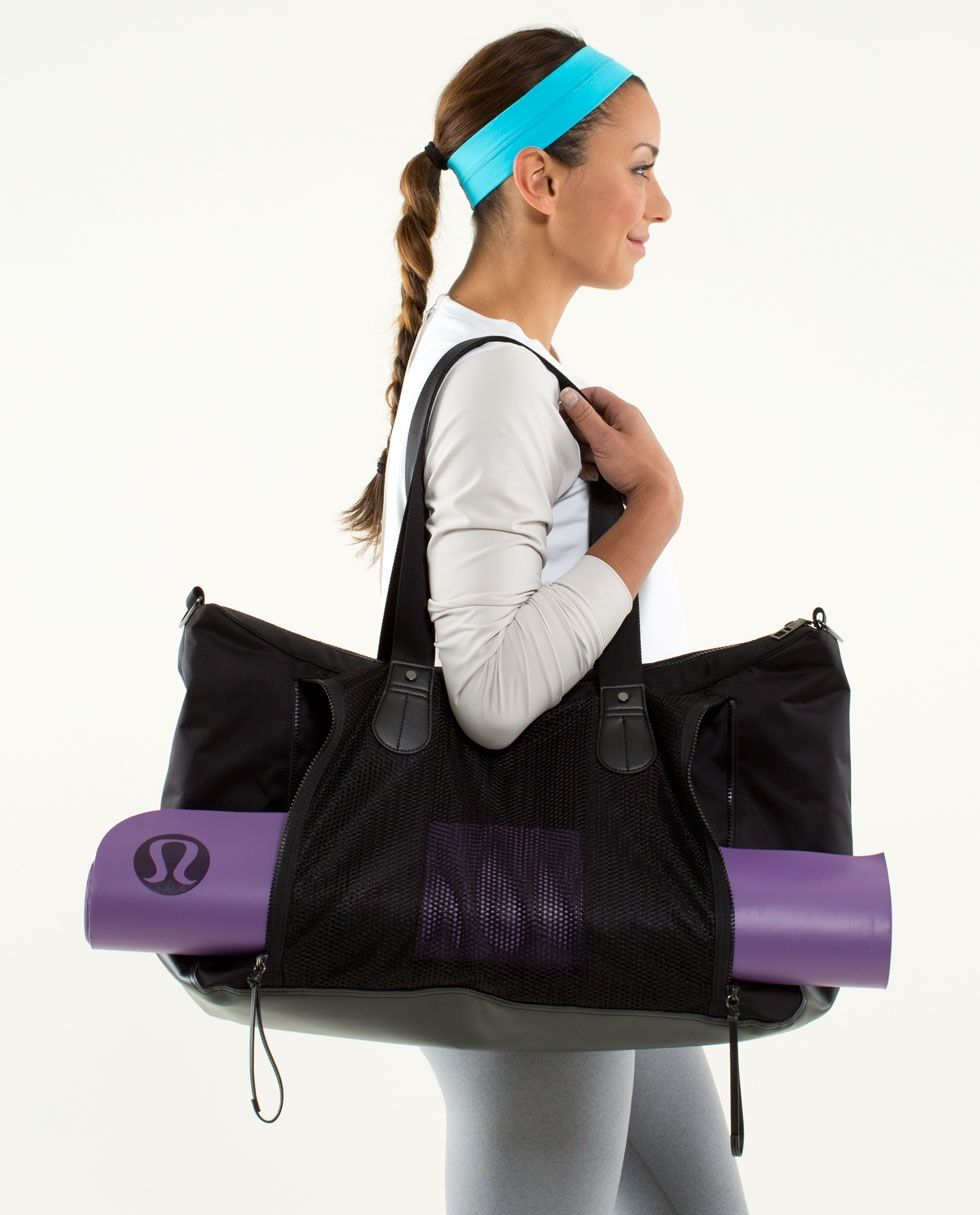 itm mat tote with yoga bag gym holder ebay peace