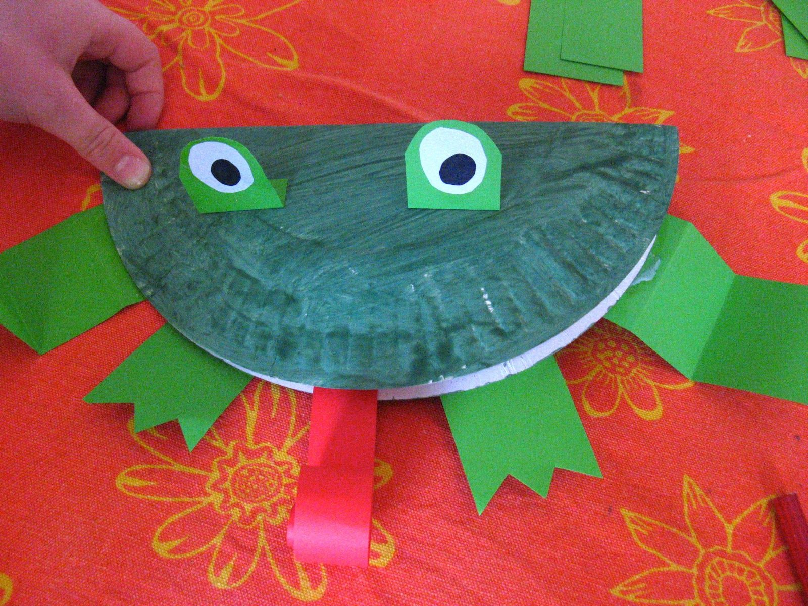 Easy Wide Mouthed Frog Paper Plate Craft Activity & Easy Wide Mouthed Frog Paper Plate Craft Activity   Children\u0027s ...