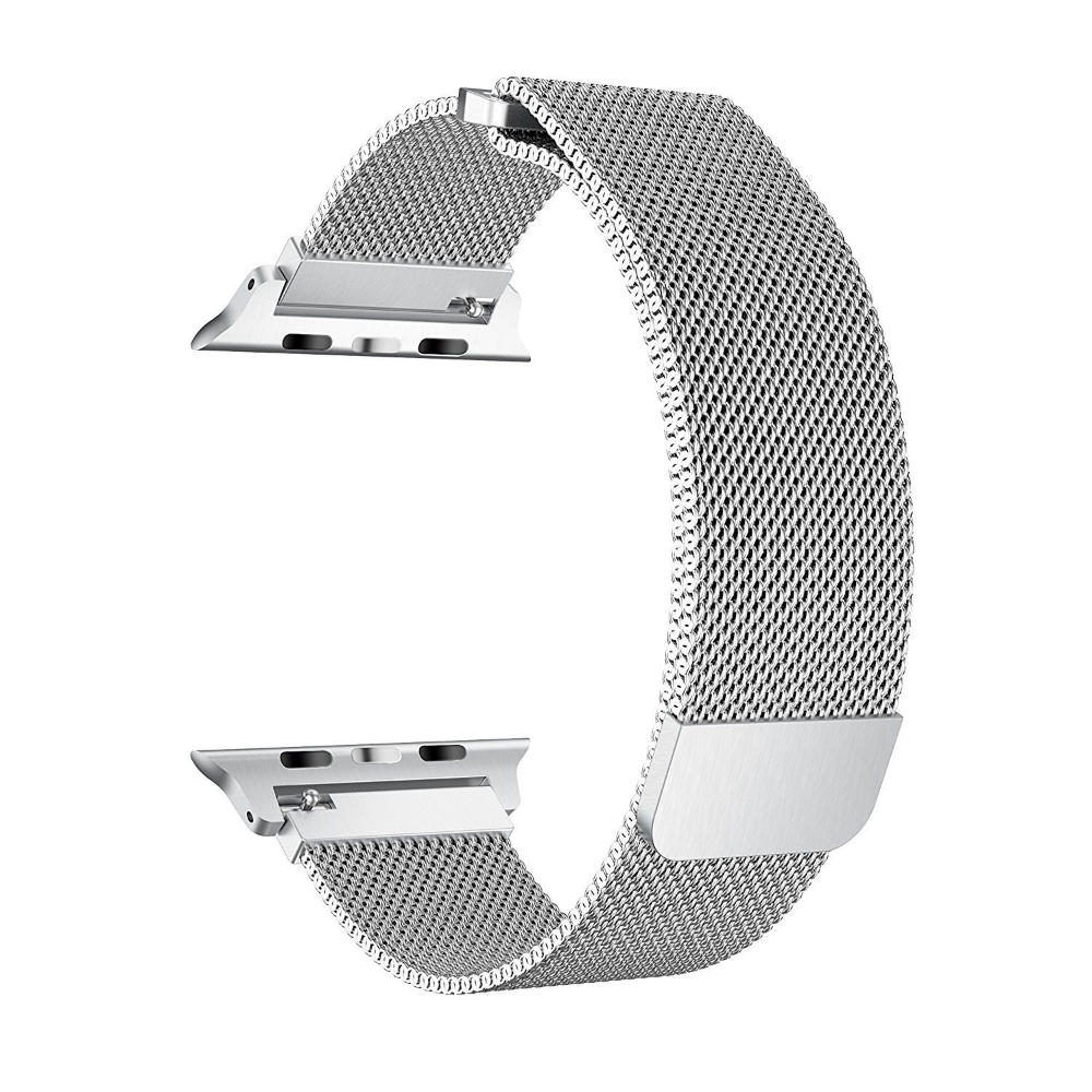 Coverlab Coverlab Apple Watch Band 38 40mm Stainless Steel Mesh Milanese Loop With Adjustable Magnetic Closure For Apple Watch Series 5 4 3 2 1 Silver Wal 38mm Apple Watch Band Apple Watch Bands Watch Bands