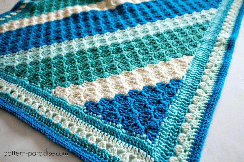 Free Crochet Pattern: Crochet Casserole C2C Blanket | Cobija ...