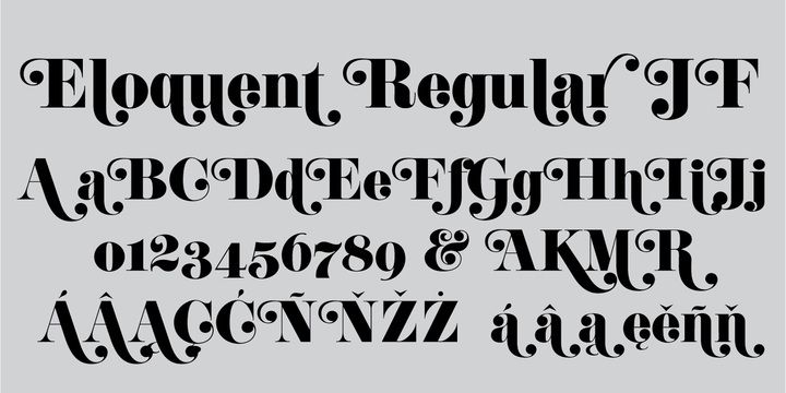 Eloquent JF Pro - Desktop font « MyFonts | T Y P E | Fonts